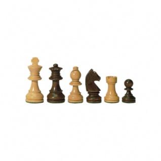 Schachfiguren - Staunton - braun - Königshöhe 76 mm