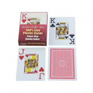 Spielkarten - 52 Blatt + 3 Joker - Jumbo Blatt - Plastik