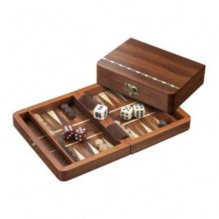 Backgammon - Reisespiel - Kassette - Miltiadis - Holz - mini