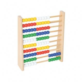Zählrahmen mit 100 bunten Holzkugeln