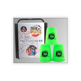 - FlashCups - 12 Stück - Neongrün mit Lunchbox+DVD