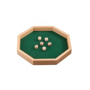 Würfelbrett - Octagon - Würfelteller - achteckig