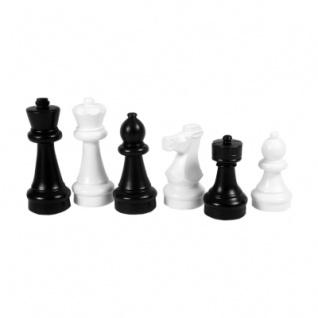 Freiland Schachfiguren - schwarz-weiß - klein - Königshöhe 30cm