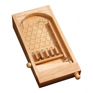 Mini Bingo Tischspiel - Hevea-Holz - mit Metallkugeln