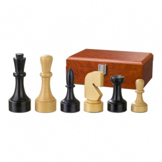 Schachfiguren - Romulus - Holz - Modern Style - Königshöhe 95 mm