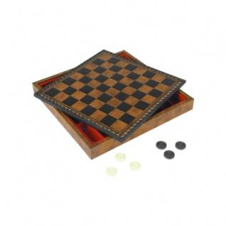Schachkassette - aus Salpa-Leder - Feldgröße 28 mm