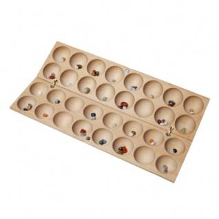 BAO - HUS - zwei Mancala-Spiele auf einem Spielbrett