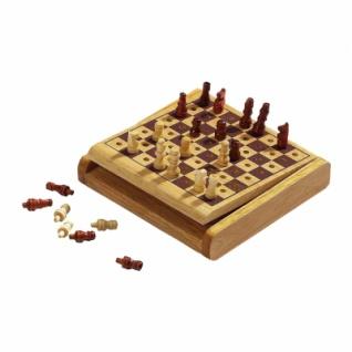 Schachspiel - Steckspiel - klein - Breite 12 cm
