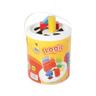 Bauklötze - Logic Steckspieltrommel - 30 Holzbausteine - ab 1 Jahr