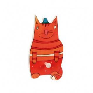 Kindergarderobe - Katze - 26 x 16 cm