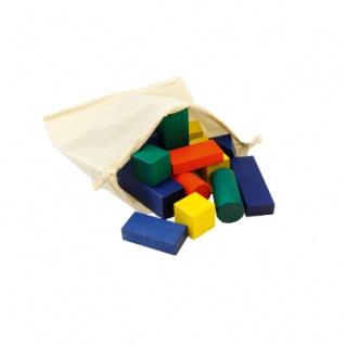 33 Bausteine im Bausack - bunt - 50mm
