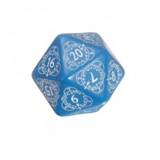 Kartenspiel - Level Counter - 1 Stück - W20 - blau und weiss
