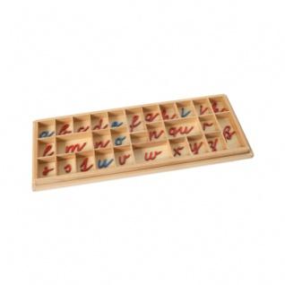 Box für Bewegliches Alphabet klein - kursiv