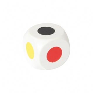 Farbwürfel 25 mm - weiß - 6 Farben