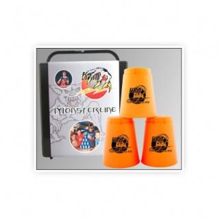 - FlashCups - 12 Stück - Neonorange+ Lunchbox+DVD
