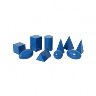 Geometrische Körper - groß - blau