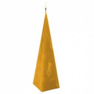 Kerze - handgearbeitet - Pyramiden-Form - orange - ca 22 cm