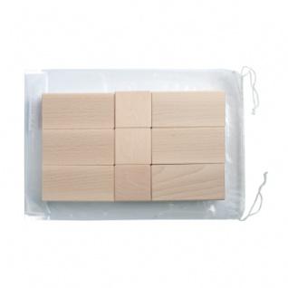 18 Bausteine im Polybeutel - natur - 50mm