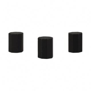 Achteckstein Landmark - 15x20mm - schwarz