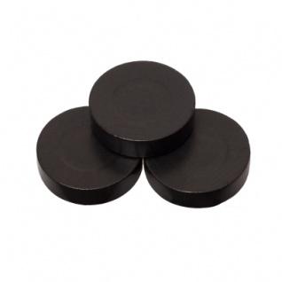 Spielsteine - rund - Holz - schwarz - 31 x 8 mm