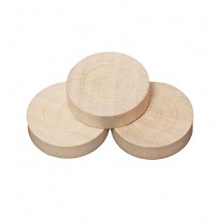 Spielsteine - rund - Holz - hell - 28 x 7 mm
