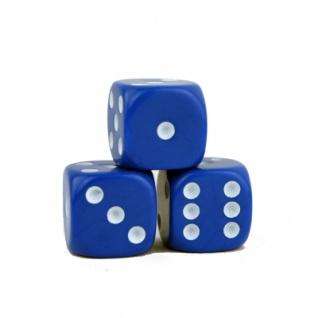 Würfel - blau - W6 - Kunststoff - 16 mm