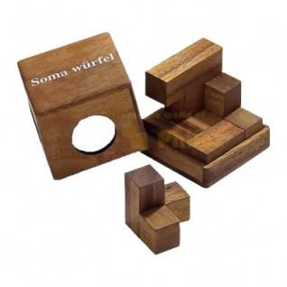 Somawürfel - klein - 7 Puzzleteile - Denkspiel - Knobelspiel - Geduldspiel