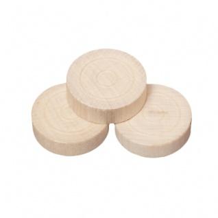 Spielsteine - rund - Holz - hell - 25 x 7 mm