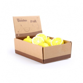 Display Zitrone aus Holz