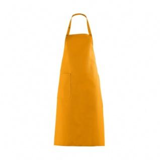Latzschürze mit großer Tasche - mango - orange - 100 cm