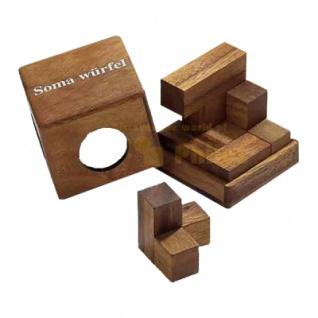 Somawürfel - mittel - 7 Puzzleteile - Denkspiel - Knobelspiel - Geduldspiel