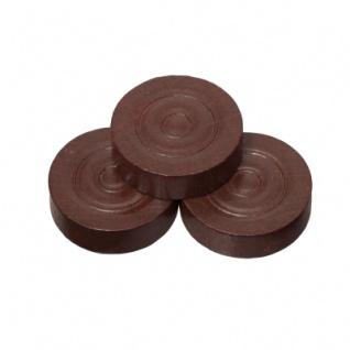 Spielsteine - rund - Holz - braun - 28 x 8 mm