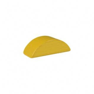 Baustein - Halbmond - 55x26x18 mm - gelb