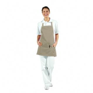3 fach-Taschenschürze - sand - beige - 65 cm