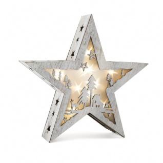 Leuchtstern mit Motiv - Shabby Chic - klein