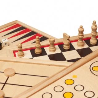 Spielesammlung - Holz - inkl. 10 Spiele-Klassiker - Vorschau 4