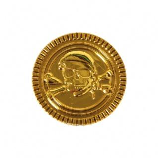 Piratengeld - Goldmünzen - Spielgeld - 33 mm - gold - 100 Stück - Vorschau 3