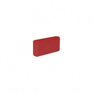 Baustein - Leiste klein - 50x12, 5x25 mm - rot