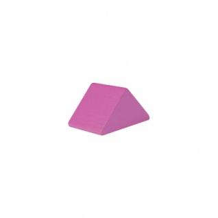 Baustein - Dreieck - 30x47x25 mm - rosa