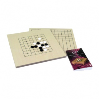 Go-Set klein - 9x9 und 13x13 - Glas-Steine und Buch