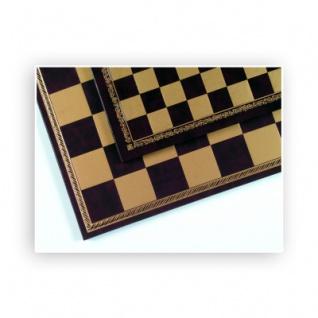 Schachbrett - Salpaleder - gold und rot - Breite 33 cm - Feldgröße 28 mm