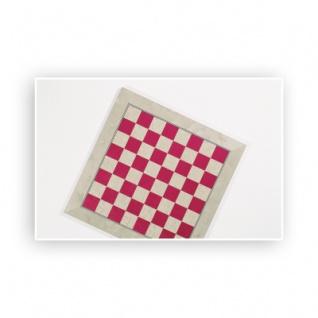 Schachbrett - Intarsie - mit Zierader - Breite 40 cm - Feldgröße 40 mm