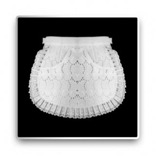 Servierschürze - weiß - 26 cm