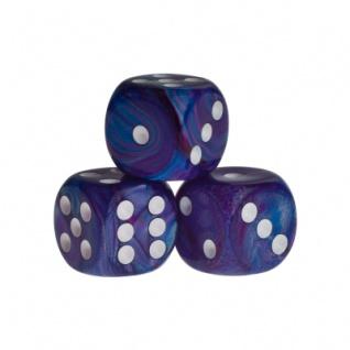 Würfel - Rio - blau - Kunststoff - 16 mm