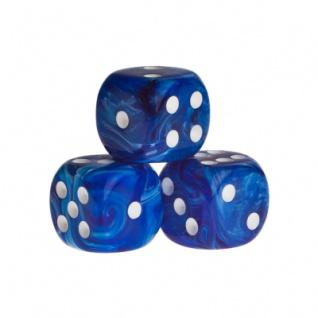 Würfel - Dublin - blau - Kunststoff - 16 mm