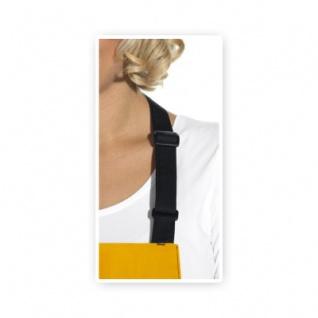 Latzschürze - 2 Taschen - schwarz-mango - 100 cm - Vorschau 2