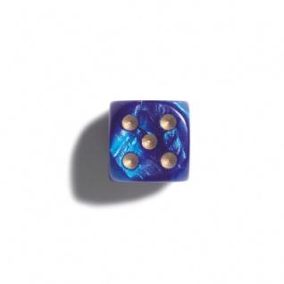 Würfel - 12 mm - blau - pearl - 36 Stück