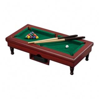 Mini Pool Billiard Tischspiel - mit 16 Billardkugeln und 2 Queues