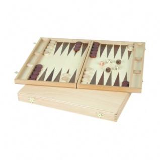 Backgammon - Buche - Intarsie - 40x24 cm