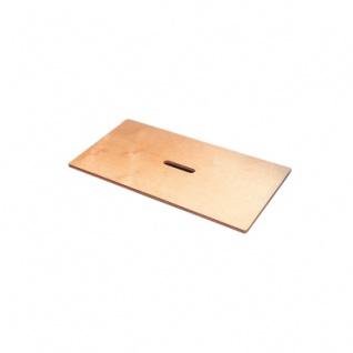 Holzdeckel für Spielzeugkiste - klein - 33x28x7cm